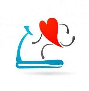 heart on a treadmill