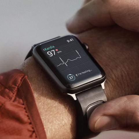 Kardia display on an Apple Watch.