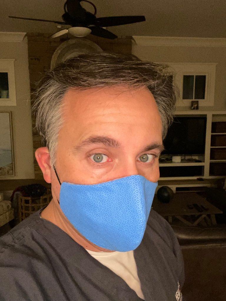 Dr. David Fieno wearing a N99 mask.