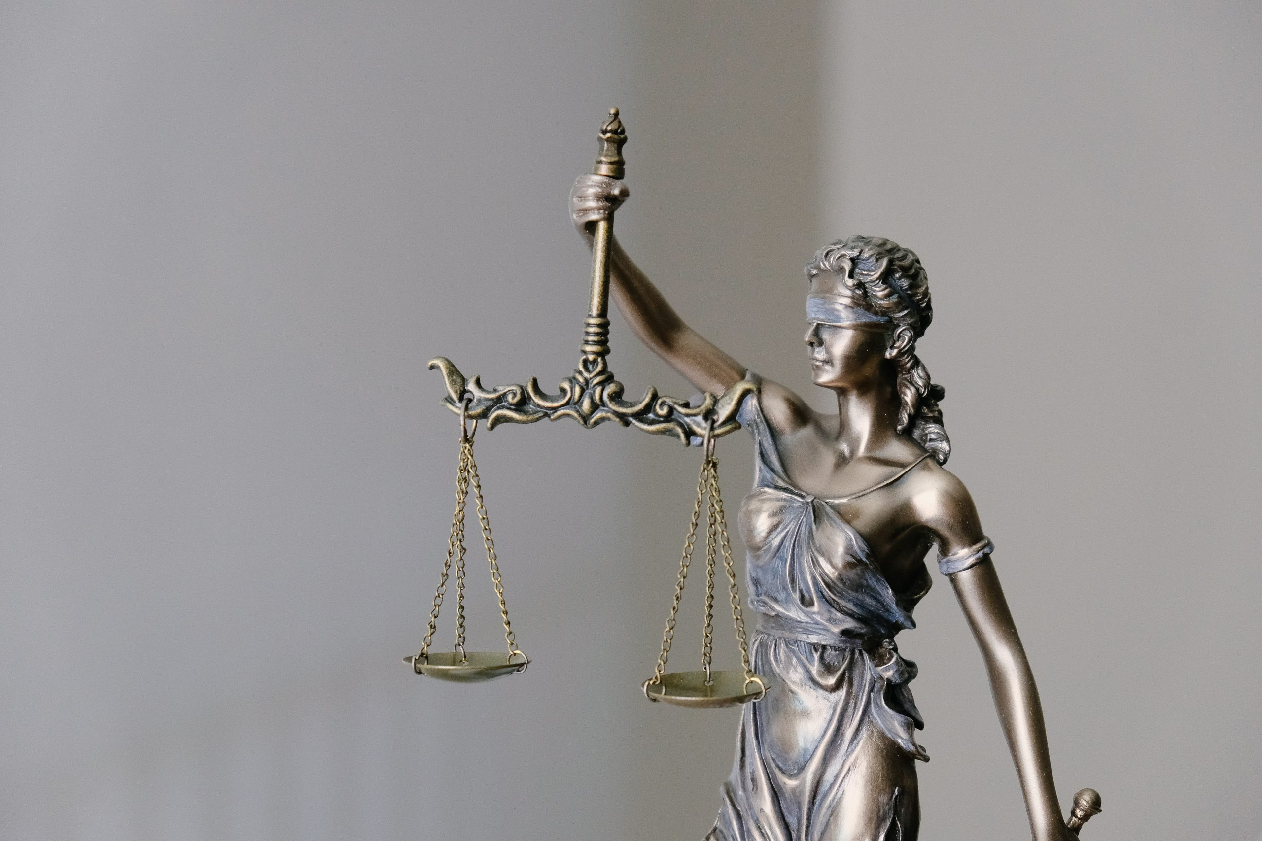 A statue representing Justice.