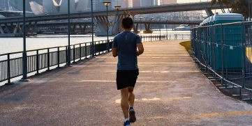 A man running is an example of one part of a healthy lifestyle.